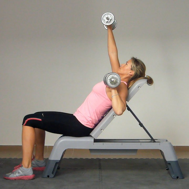 bench press incline alternating exercise golf loopy