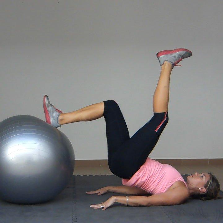 Gym Ball Watson: Leg Curl On An Exercise Ball (1 Leg)