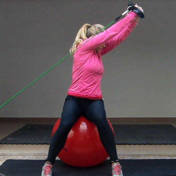 Band Lift On An Exercise Ball