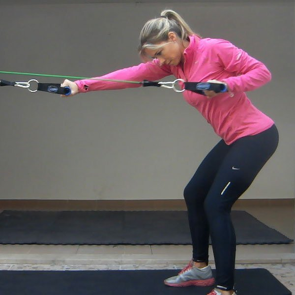 Band Pull (Bent Over) Exercise