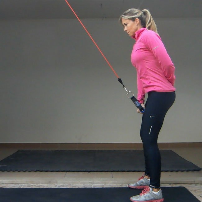 Straight Arm Lat Pulldown 1 Arm Exercise Golf Loopy